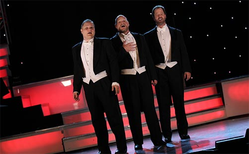 3 Redneck Tenors Show On Stage Singing