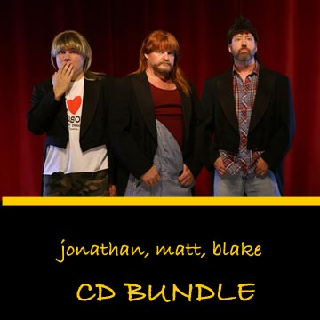 3 Redneck Tenors CD Bundle Jonathan Matt Blake