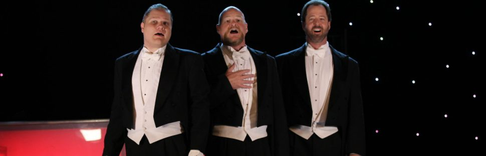 3 redneck tenors singing background